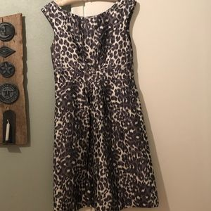 Leopard print formal dress